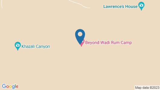 Beyond Wadi Rum Camp Map