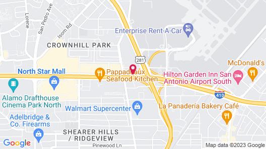 Pear Tree Inn San Antonio Airport Map
