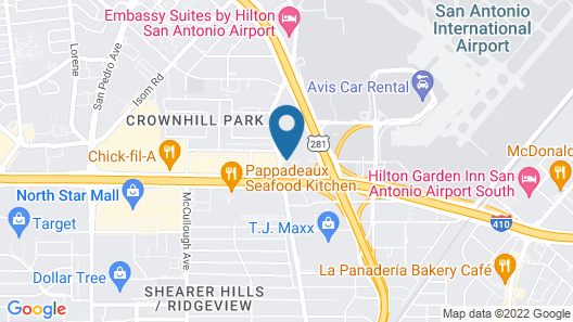 Hampton Inn & Suites San Antonio Airport Map