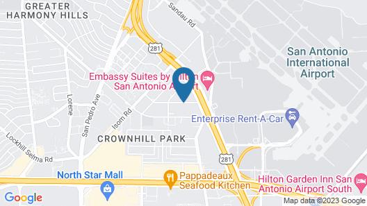 Red Roof Inn San Antonio - Airport Map