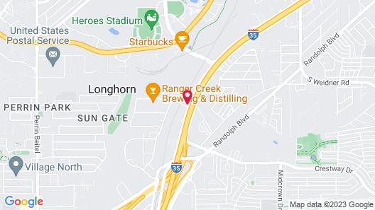 Americas Best Value Inn San Antonio Map