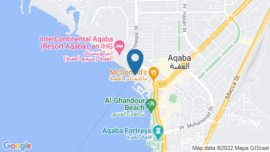 Beachfront Movenpick Apartment With Fantastic Red Sea View, Close to Downtown Map