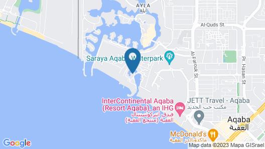 Hyatt Regency Aqaba Ayla Resort Map