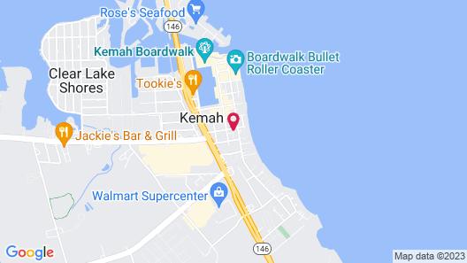 Spacious Kemah Boardwalk Townhome Map