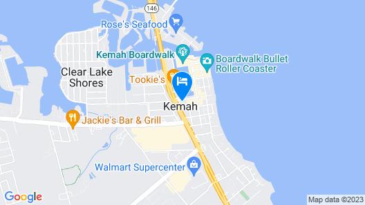 Scottish Inns and Suites - Near Kemah Boardwalk Map