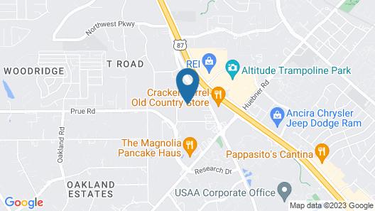 Rodeway Inn & Suites South of Fiesta Park Map