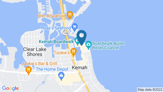 Kemah Boardwalk Inn Map