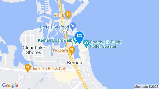 Kemah Boardwalk Inn Map