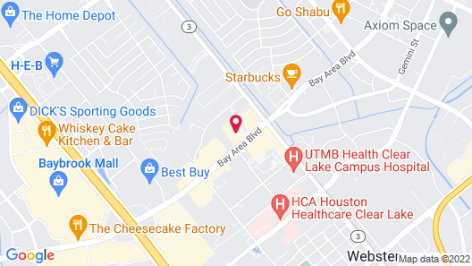 Holiday Inn Houston Webster Map