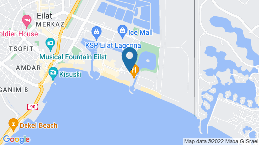 Herods Boutique Hotel Eilat Map