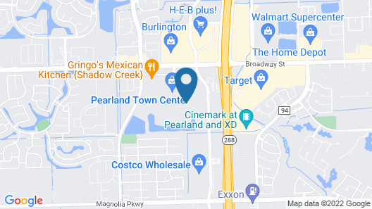 Courtyard by Marriott Houston Pearland Map