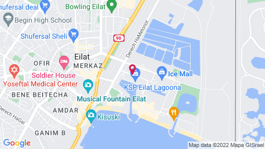 Leonardo Royal Resort Hotel Eilat Map