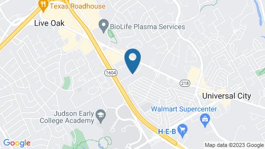 Super 8 by Wyndham Universal City Map