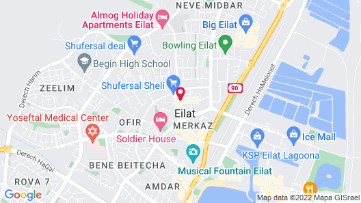 Arava Hostel Map