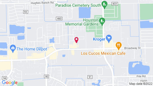 Candlewood Suites Pearland, an IHG Hotel Map