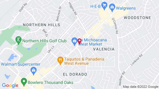 Intown Suites Extended Stay San Antonio Tx- Nagodoches Map