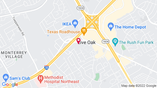 WoodSpring Suites San Antonio North Live Oak I-35 Map