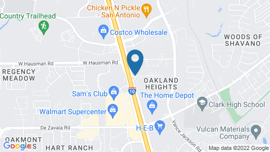 Super 8 by Wyndham San Antonio/Fiesta Map