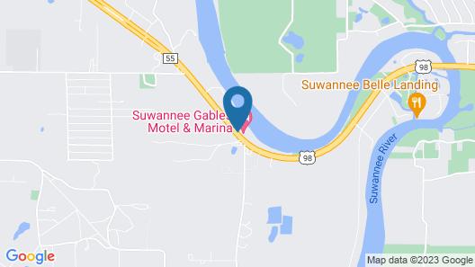Suwannee Gables Motel and Marina Map