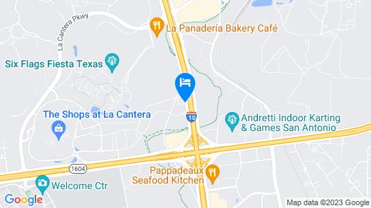 Motel 6 San Antonio, TX - Fiesta Map