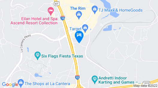 Courtyard by Marriott San Antonio Six Flags at The Rim Map