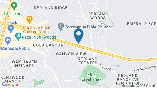 WoodSpring Suites San Antonio Stone Oak Map