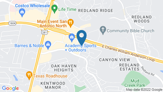 Hampton Inn San Antonio Stone Oak Map