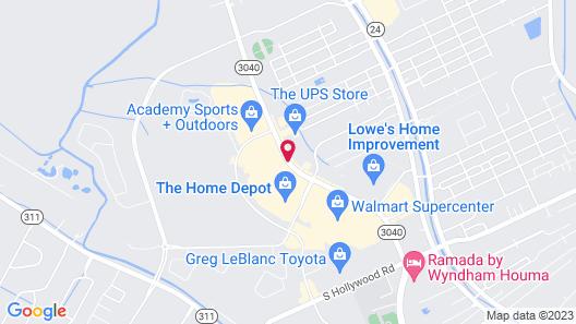 Hampton Inn Houma Map