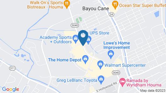 Holiday Inn Houma Map