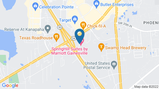 SpringHill Suites by Marriott Gainesville Map