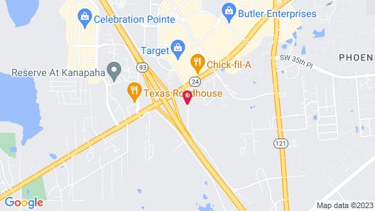 Sleep Inn & Suites University/Shands Map
