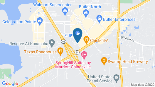 DoubleTree by Hilton Gainesville Map