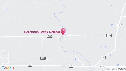 Geronimo Creek Retreat- Tipi 0 Bird Sings Map