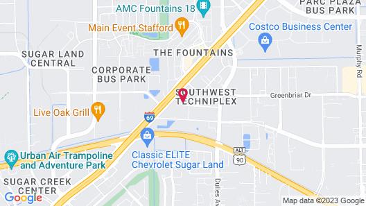 Studio 6 Stafford, TX - Houston - Sugarland Map