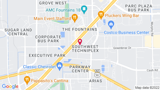 Comfort Suites Stafford Near Sugarland Map