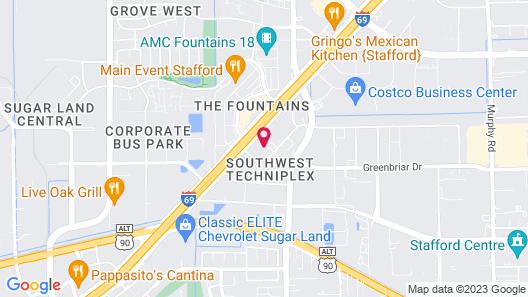 Hampton Inn Houston/Stafford Map