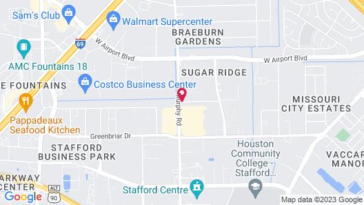 Super 8 by Wyndham Stafford Sugarland Area Map