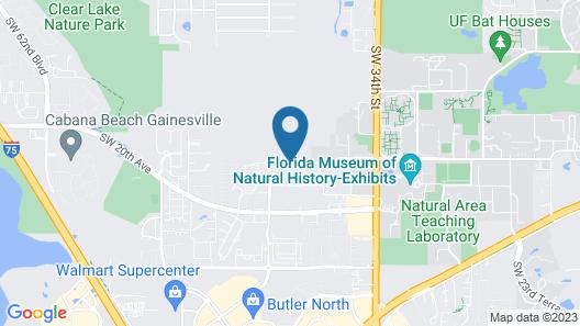 Aloft Gainesville University Area Map