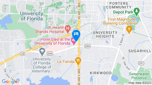 Hotel Eleo at the University of Florida Map
