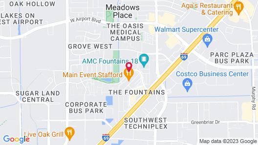 Staybridge Suites Houston Stafford - Sugar Land, an IHG Hotel Map