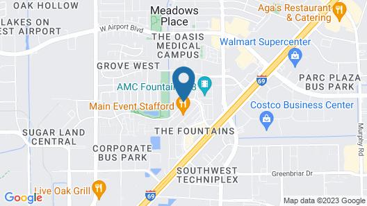 Staybridge Suites Houston Stafford - Sugar Land Map