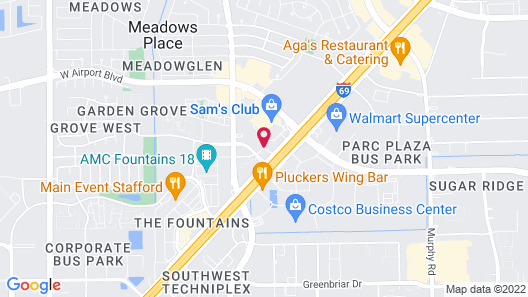 Extended Stay America Houston - Stafford Map