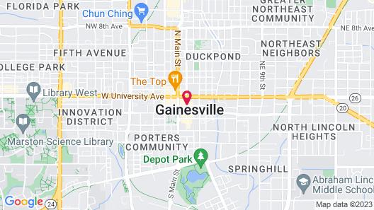 Hampton Inn & Suites Gainesville Downtown Map