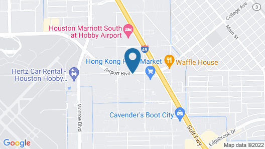 Days Inn & Suites by Wyndham Houston Hobby Airport Map