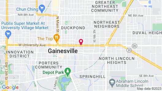 Sweetwater Branch Inn Map