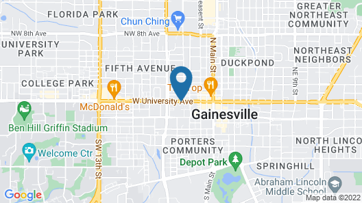 Gainesville Lodge Map