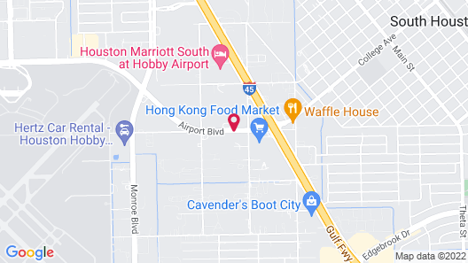 Comfort Suites Hobby Airport Map