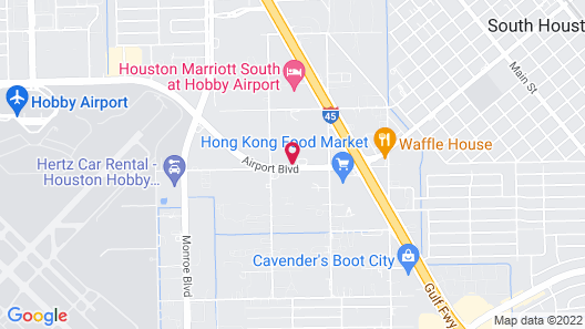 Motel 6 Houston, TX - Hobby Map