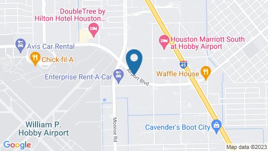 Best Western Plus Hobby Airport Inn & Suites Map