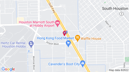 GreenTree Hotel Houston Hobby Map